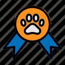 award, contest, medal, paw, pet