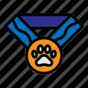 achievement, medal, pet, pets, winner