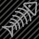 bone, dead, fish, food, skeleton icon