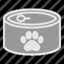 animal, can, cat, dog, feline, food
