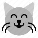 animal, cat, emoticon, face, pet