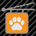 animal, paw, pet, sign, store, veterinary