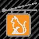 cat, paw, pet, sign, store, veterinary