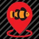 animal, fish, gps, map, pet, pin