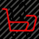 animal, cat, pet, shop, trolly