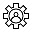 gear, seo, setting, user icon