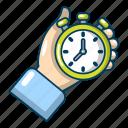 cartoon, object, speed, stop, stopwatch, timer, watch