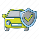 cartoon, insurance, vehicle, car, concept, protection, object icon