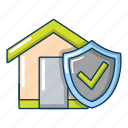 cartoon, concept, home, house, insurance, object, property
