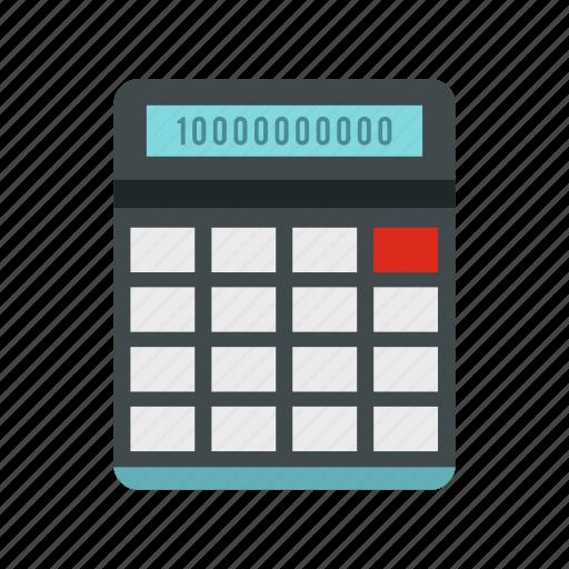 business, calculate, calculator, display, electronic, math, mathematics icon