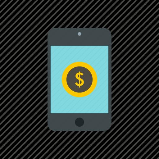 buy, cellphone, dollar, earn, money, pay, telephone icon