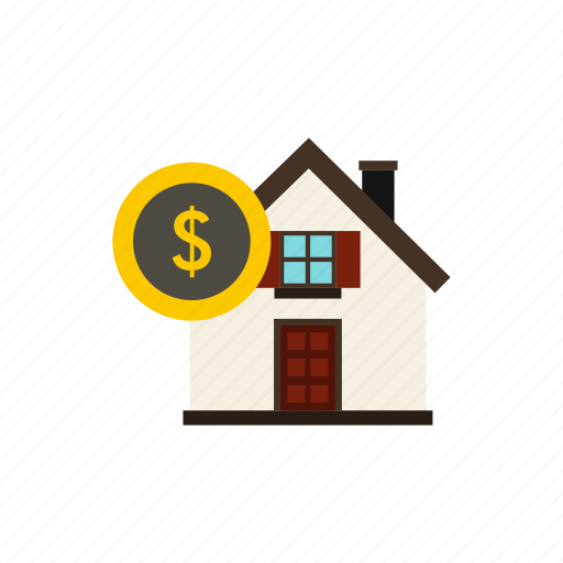 concept, currency, dollar, finance, home, house, money icon
