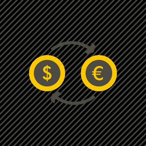 business, currency, dollar, exchange, finance, market, money icon