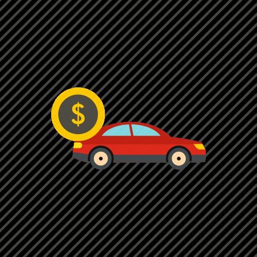 buy, car, currency, finance, loan, money, vehicle icon