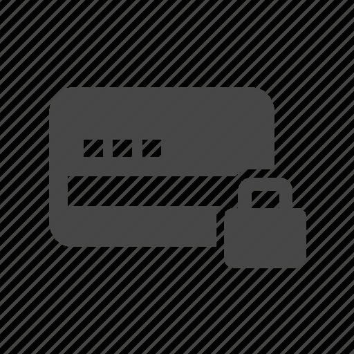card, credit, lock, pin icon