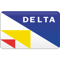 Delta, curved icon