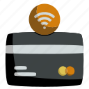 banking, card, contactless, credit, currency, money, nfc icon