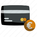 business, card, credit, currency, euro, money, payment icon