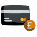 business, card, credit, currency, money, payment, pound icon