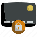 card, credit, locked, payment, protection, secure, security icon