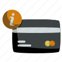 about, card, credit, finance, information, money, payment icon