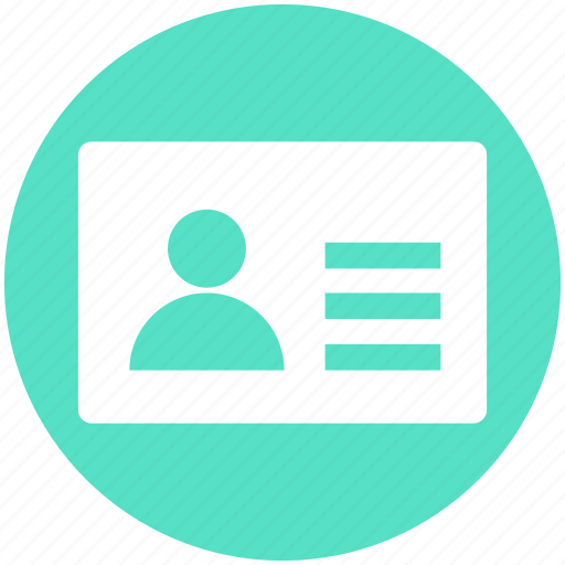 Card, info, info card, profile, user, user card icon - Download on Iconfinder