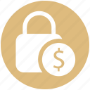 dollar, financial security, lock, lock and security, security
