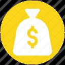 cash, cash bag, dollar, money, payment, sack of money icon