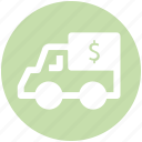 currency, dollar, dollar van, money, truck, van