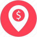bank location, business gps, finance area, map pin, navigation