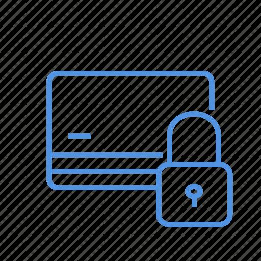 block, card, credit, debit, lock icon