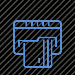 card, credit, debit, generate, new icon