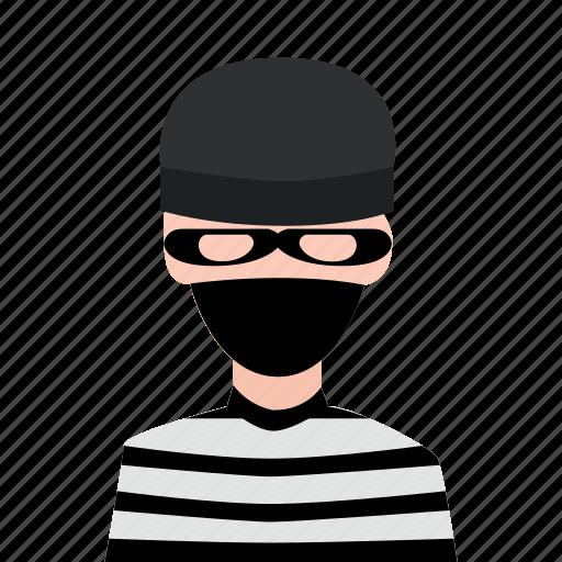 crime, criminal, hacker, masked man, thief icon