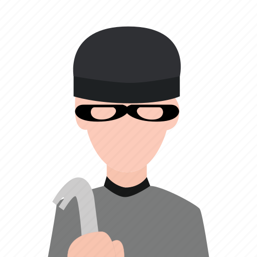 crime, criminal, hacker, masked man, thief icon