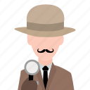 agent, crime, detective, investigate, investigator, security, spy icon