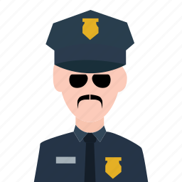 crime, guard, officer, police, police officer, policeman, security icon