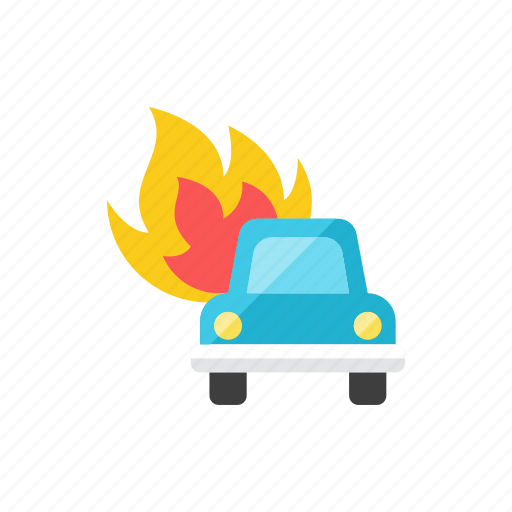 burn, car icon