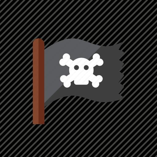 flag, pirate icon