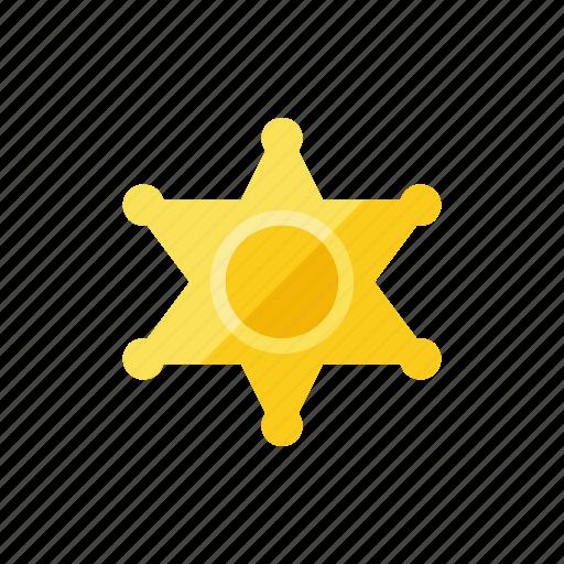 sheriff, star icon