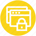 lock, pages, protection, safe, security