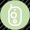 communication, intercom, police radio, portable mobile, walkie talkie icon
