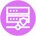database, protection, security, server, shield