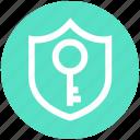 antivirus, key, protection shield, security, shield icon