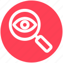 crime, eye, magnifier, magnifier eye, search, security icon