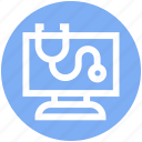 care, instrument, lcd, medical, stethoscope icon