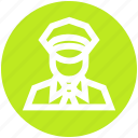 avatar, man, police, policeman, security, sergeant icon