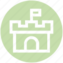antivirus, building, castle, safety, security, tower icon