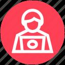 hacker, laptop, security, threat, violation icon