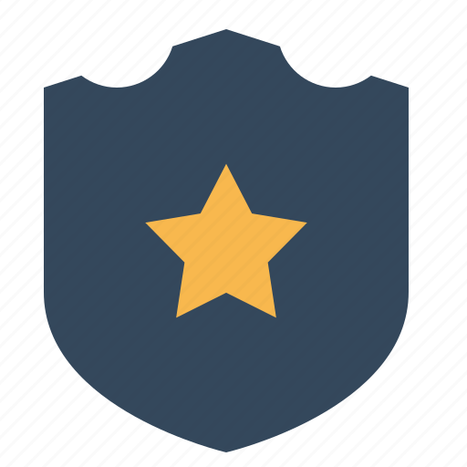 badge, batch, police, safe, sheriff, shield, star icon