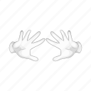 cartoon, glove, hand, magic, magician, performing, trick icon